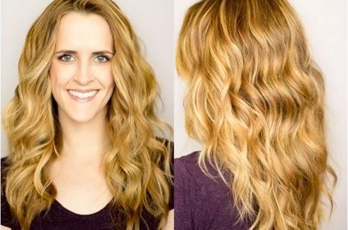 Волосы: как сделать плоские волны