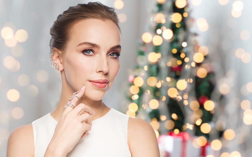 макияж на рождество